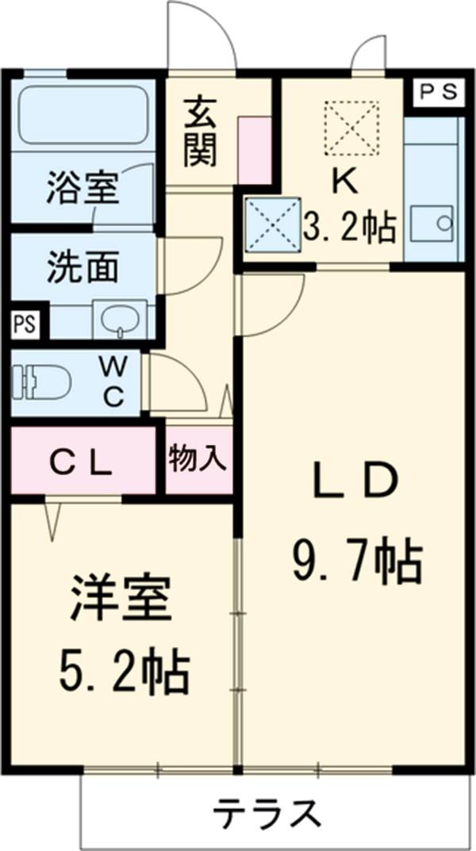 レクシオン横井 103号室の間取り