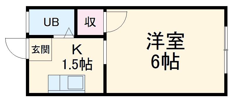 堀田ビル 206号室の間取り