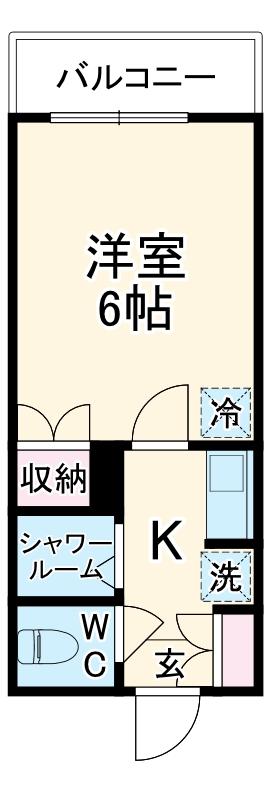グリーンピア富岡Ⅰ 1306号室の間取り