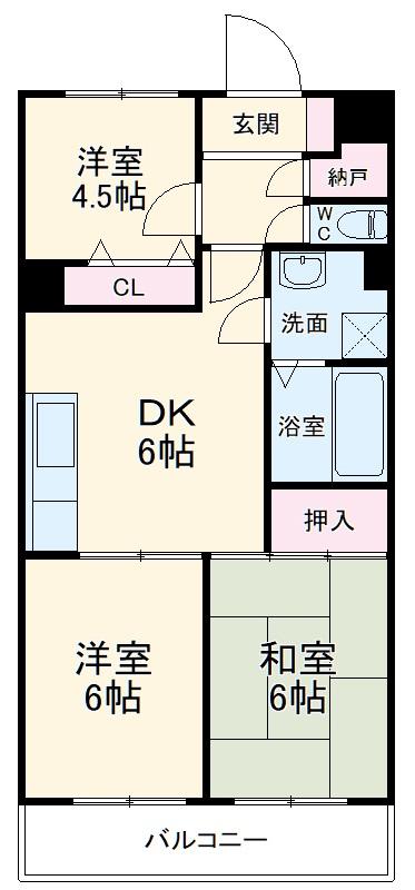 サンヒルズ東戸塚 A103号室の間取り