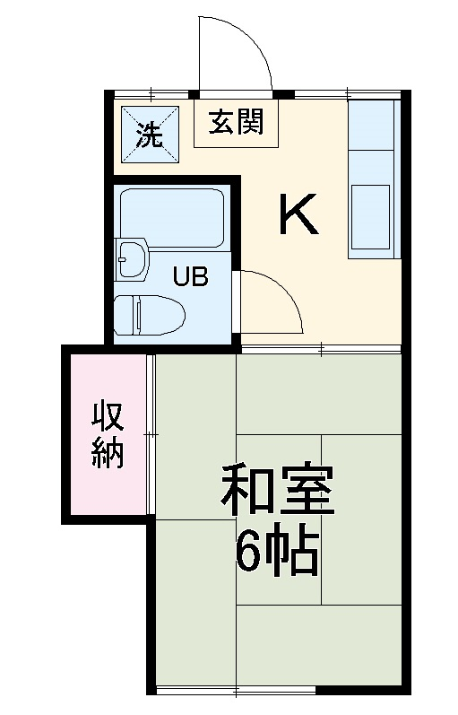 千代松荘 102号室の間取り