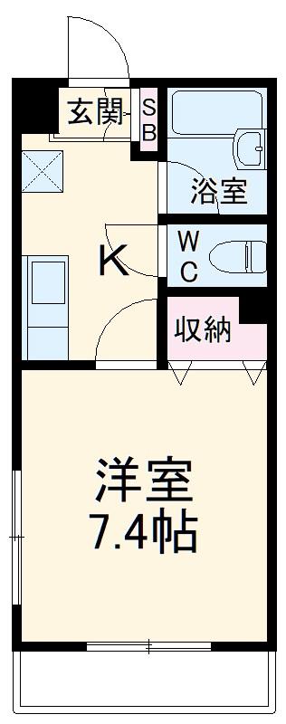 横浜元町ガーデン12 301号室の間取り