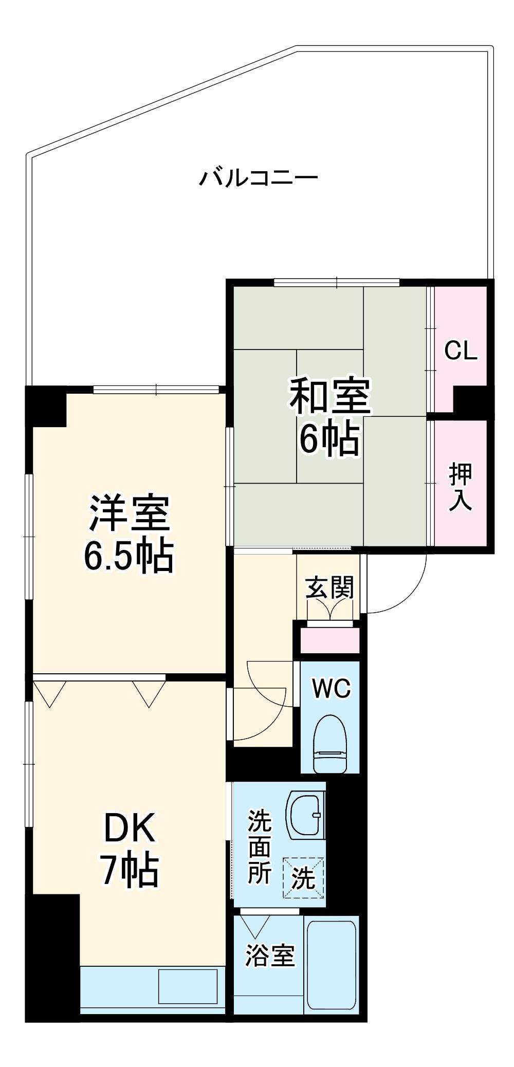 山口ホームビルA 4B号室の間取り