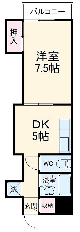 芹澤マンション 303号室の間取り