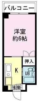 ヤマユ森マンション 302号室の間取り