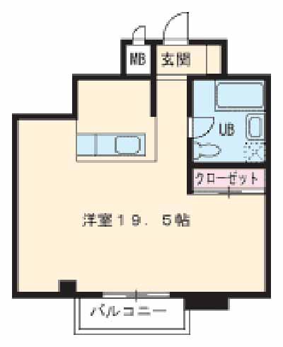 HATAYAアパートメント 201号室の間取り