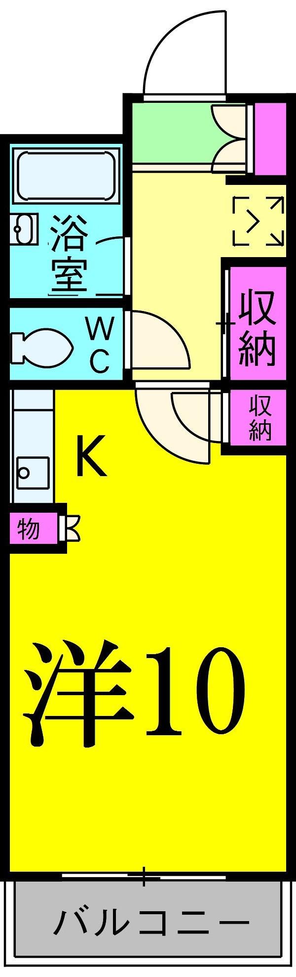 PARK SQUARE北松戸 215号室の間取り