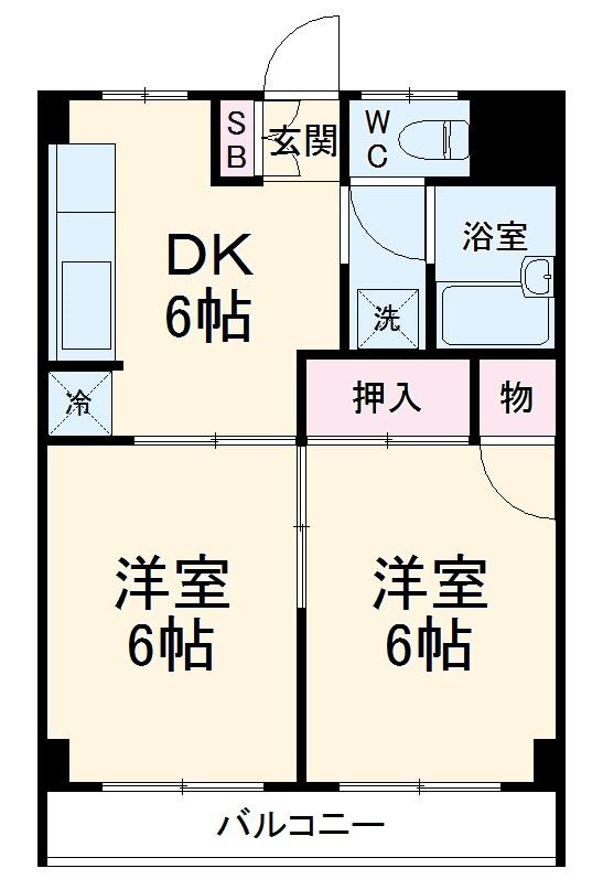 MKマンション 203号室の間取り