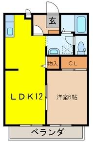 サンガーデン岩槻Ⅱ 203号室の間取り