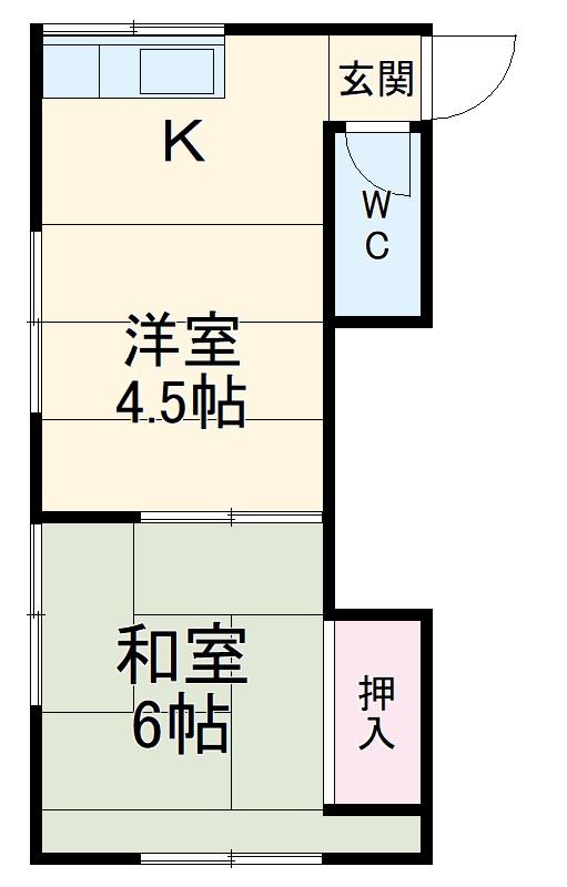 加知荘 201号室の間取り