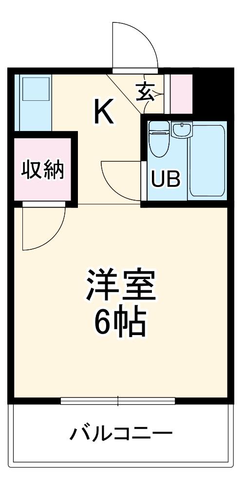 第7高輝寮 3A号室の間取り