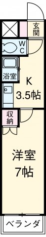 アイルーム豊田永覚Ⅰ 306号室の間取り