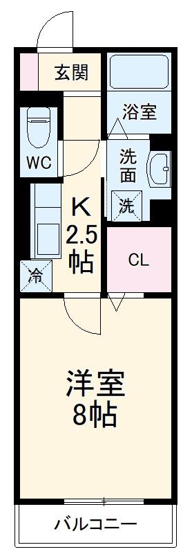 GRAND D-room豊田月見 202号室の間取り