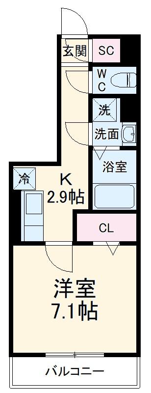 GRAND D-room豊田月見 303号室の間取り