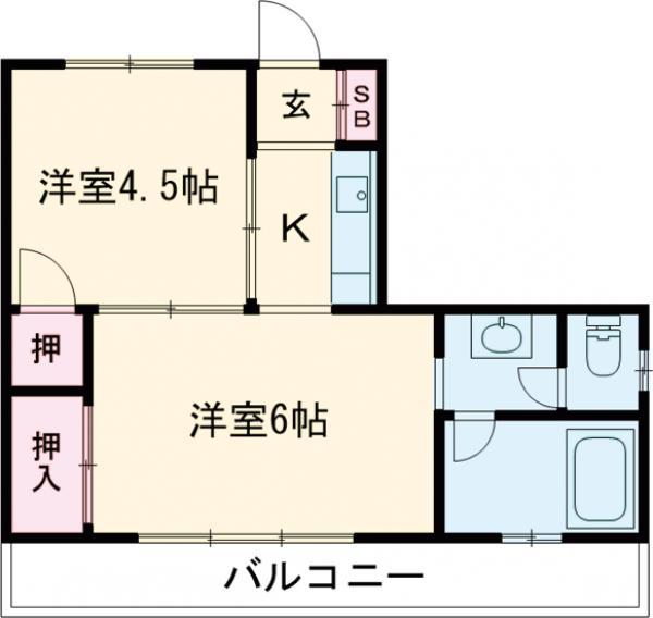 あずまマンション 201号室の間取り