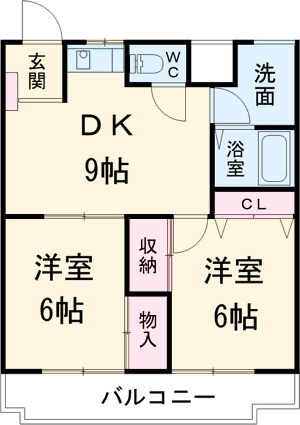 コーポ三鈴 602号室の間取り