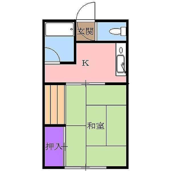 清水ハウス 12号室の間取り