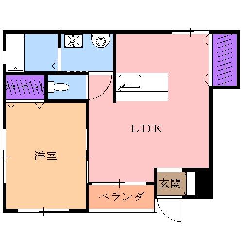 藤コーポ弥生壱番館 201号室の間取り