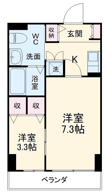 ゴールドライフマンション宇都宮 603号室の間取り