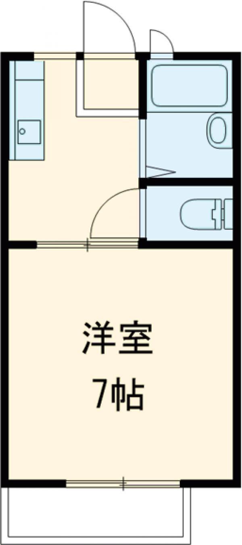 清成ハイツ 101号室の間取り