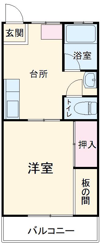 志朋ハイツ・峰 103号室の間取り