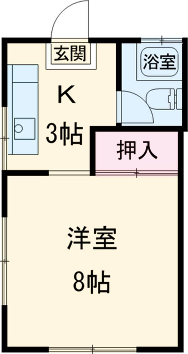 コーポ中村Ⅱ 208号室の間取り