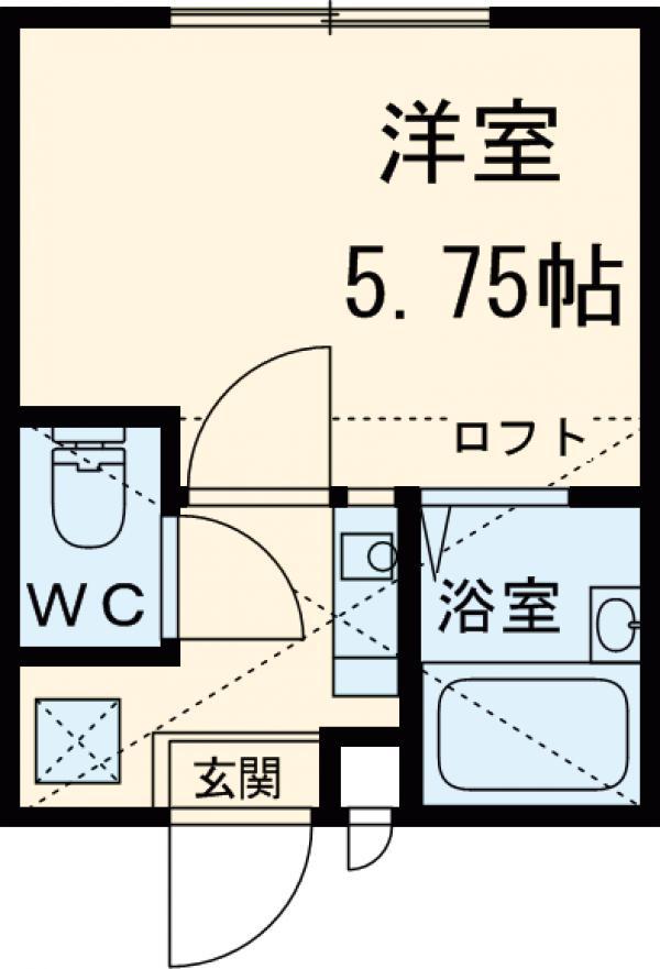 ロッシェル富士見Ⅲ3号棟 103号室の間取り