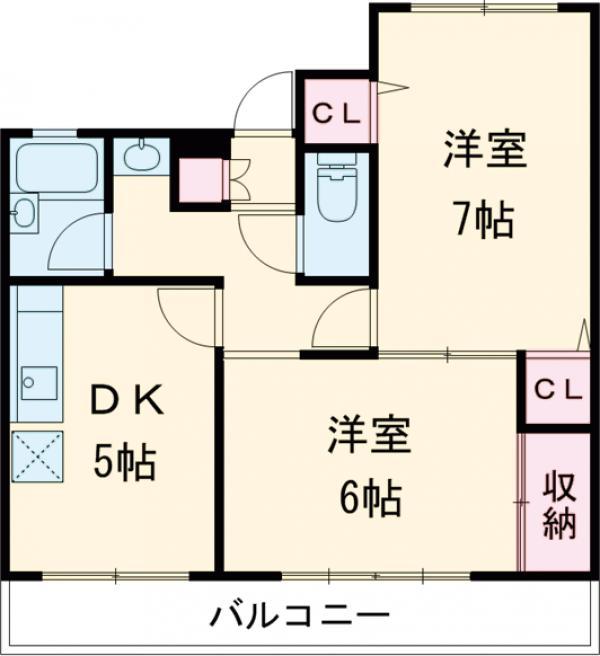 ティーハイムアサカ 203号室の間取り