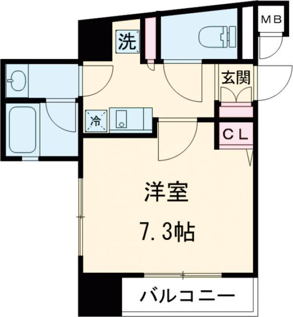 プラチナコート上野 1302号室の間取り