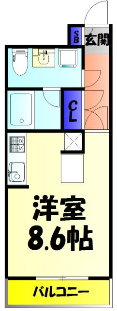 ダイワティアラ津田沼Ⅵ 113号室の間取り