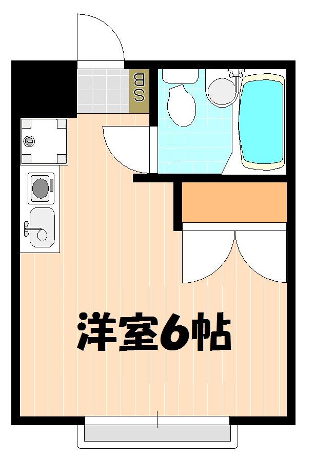 ハイツ田喜野井 106号室の間取り