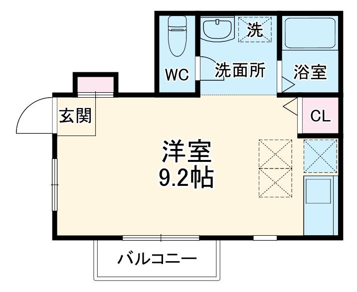 ランドマークヴュー横浜 101号室の間取り