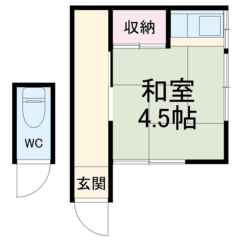 石井アパート1号棟 1号室の間取り
