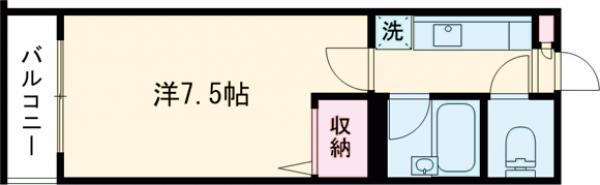 ラ・フローラ武蔵野Ⅴ 108号室の間取り