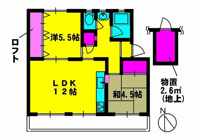 やよいS3マンション 402号室の間取り