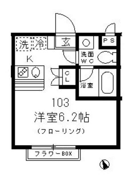 T&K阿佐ヶ谷 103号室の間取り