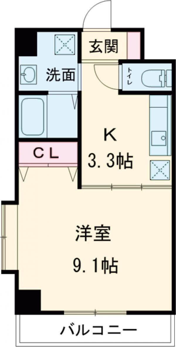クレスト高円寺 203号室の間取り