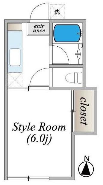 コシジコーポ 202号室間取り図