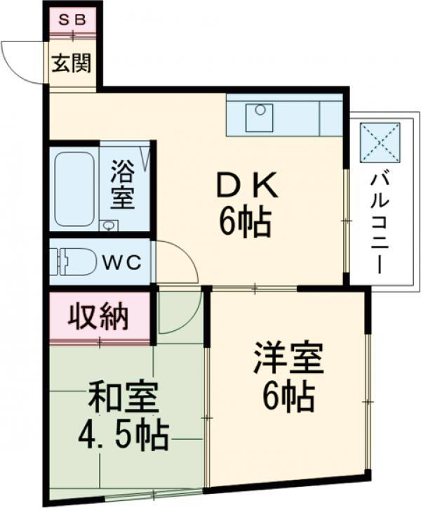 エメラルドマンション 202号室の間取り
