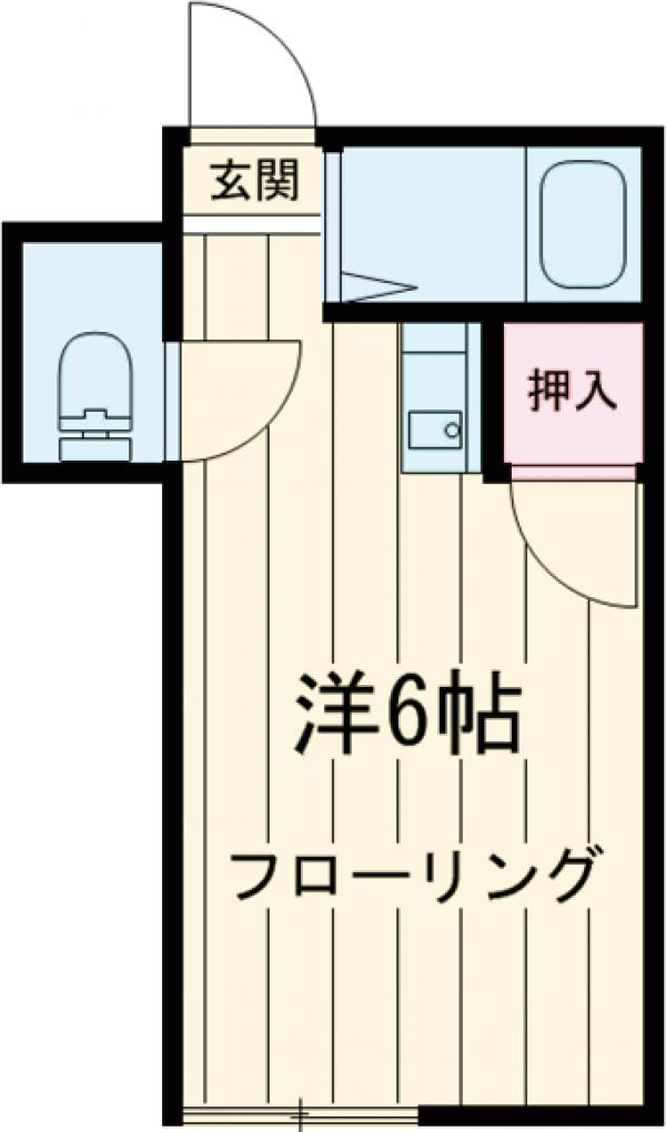 石山荘 L号室の間取り