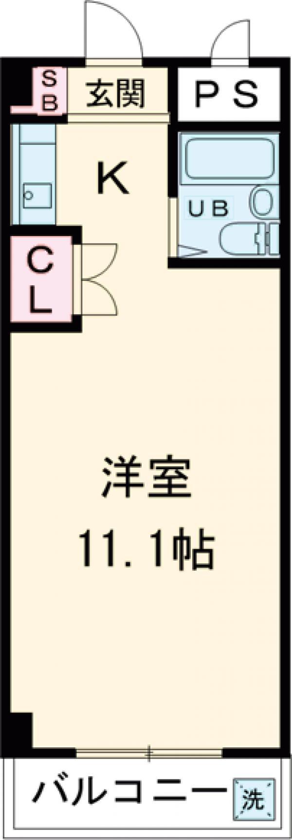 コアクレスト立川栄町 103号室の間取り
