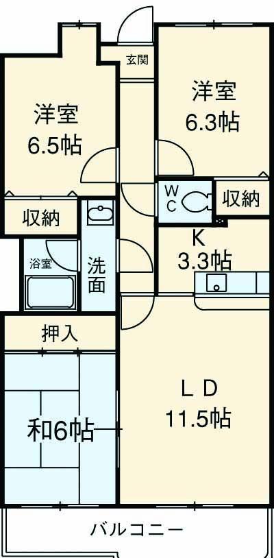Lumiere Yagasaki 306号室の間取り