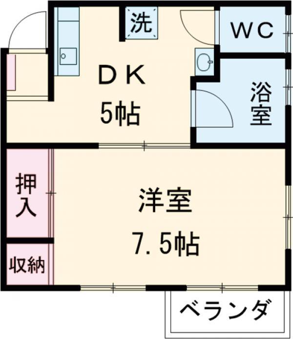 フラットKATO 206号室の間取り