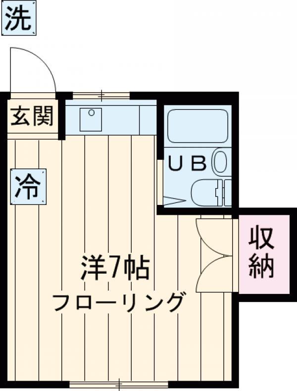 内田コーポ 202号室の間取り