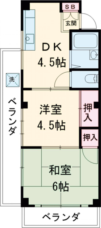 小谷田ビル 301号室の間取り