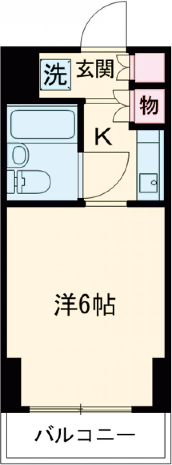 メインステージ多摩川駅前 408号室の間取り