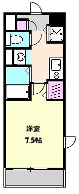 エル・スプランドゥール 208号室の間取り