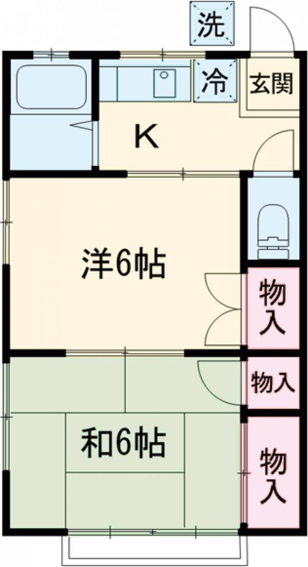 斎藤荘 202号室の間取り