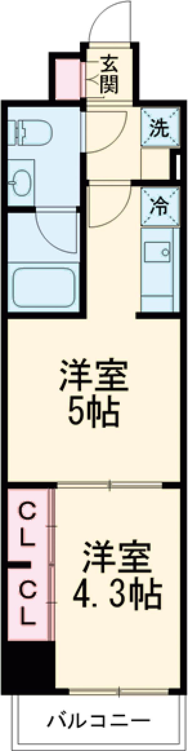 ラフィスタ調布多摩川 303号室の間取り