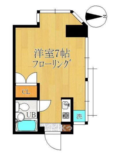 渡辺ハイツ 301号室の間取り